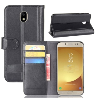 [Ready Stock] SZYHOME Phone Cases For Samsung Galaxy J7 (2017)Eurasian version / J7 PRO / J730 Luxury Retro Real Genuine LeatherWallet Flip Cover Solid Color Case Shell ( Brown ) - intl