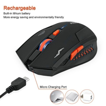 Rechargeable Wireless 2.4G Gaming Mouse Gamer Silence Built-in Battery PC Laptop - intl