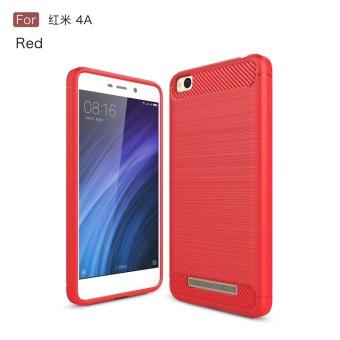 Redmi 4A Case Shockproof Carbon Fibre Soft TPU Silicone ProtectiveCase Cover for Xiaomi Redmi 4A -