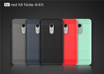 Redmi Note4 4x Case, Ultra-thin Brushed Carbon Fiber Slim ArmorSoft TPU Phone Back Full Cover Case For Xiaomi Redmi Note 4 / Note4X - intl - 2