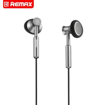 Remax 3.5mm Metal Earphone Headphone Headset Stereo Bass In-EarHeadphones Earphones With Micphone For Mobile Phone MP3 PC - intl