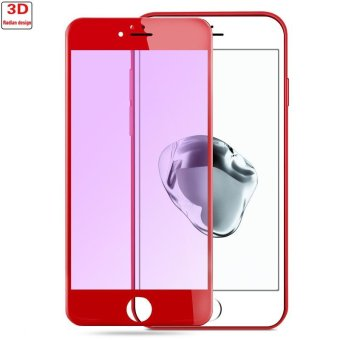 REMAX 3D Full Arc edge Screen Tempered Glass Protector For Apple iPhone 7 Plus (Red)