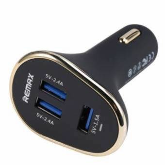 Remax 6.3A 3-port USB Car Charger (Black)