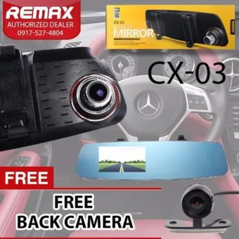 Remax CX-03 Rear-View 1080P Full HD Rear View DVR Mirror with Reverse Camera - 2