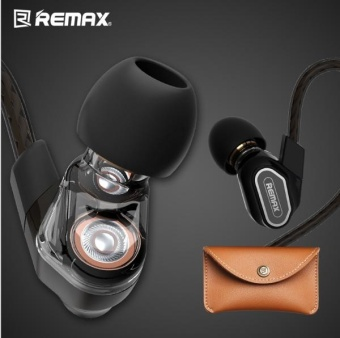 REMAX Dual Moving-Coil Dynamic Ear Hook Earphone Sport Running WireHeadphone 6mm unit in ear heads for phone/PC/Ipad/MP3/MP4 - intl