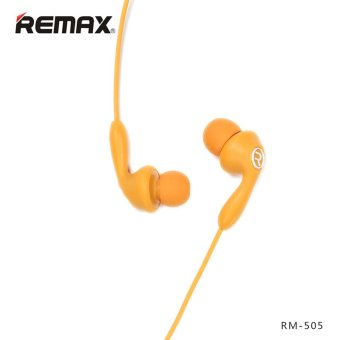 REMAX RM-505 In-Ear Stereo HiFi Music Earphone Headphones PortableHeadset with mic (Orange)