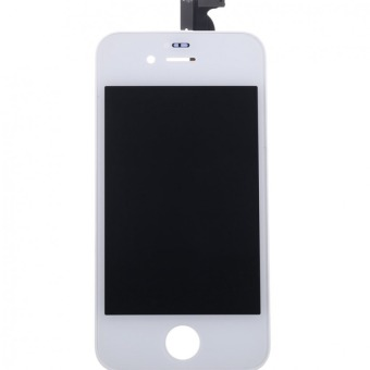 Replacement LCD Screen Assembly + Repair Tool Set for iPhone 4 (White)--TC