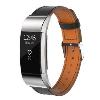Replacement Luxury Leather Band Strap Bracelet For Fitbit Charge 2GN - intl - 4