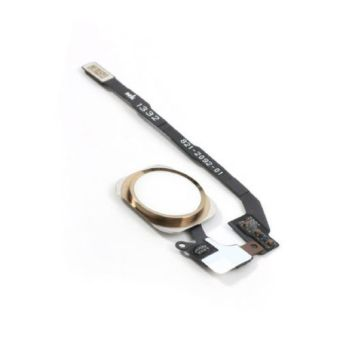 Replacement Part for Apple iPhone 5S Home Button Assembly with FlexCable Ribbon - Gold - Intl