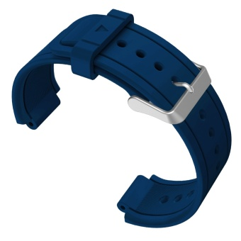 Replacement Watch Band Sports Soft Silicone Stable BuckleAdjustable Strap Watchband Wristband Replace Accessory with 2PcsScrewdrivers for Garmin Vivoactive Acetate Blue - intl