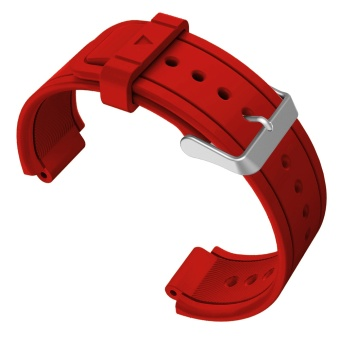 Replacement Watch Band Sports Soft Silicone Stable BuckleAdjustable Strap Watchband Wristband Replace Accessory with 2PcsScrewdrivers for Garmin Vivoactive Acetate Red - intl