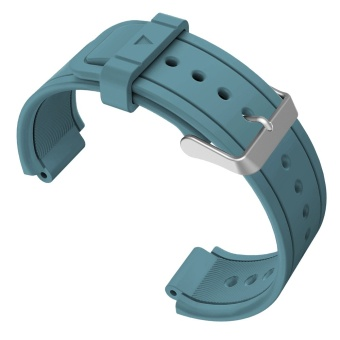 Replacement Watch Band Sports Soft Silicone Stable BuckleAdjustable Strap Watchband Wristband Replace Accessory with 2PcsScrewdrivers for Garmin Vivoactive Acetate Rock-cyan - intl