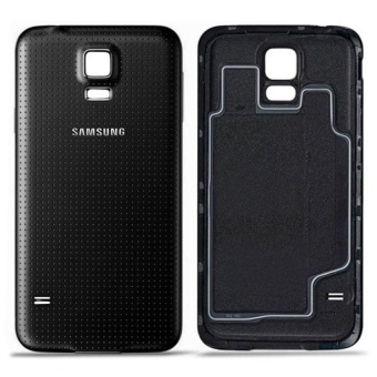 Replacement White Battery Door Back Cover With Rubber Sealwaterproof Gasket For Samsung Galaxy S5 (Black) - intl