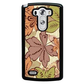 Retro Stripe Flower Pattern Phone Case for LG G3 (Multicolor)