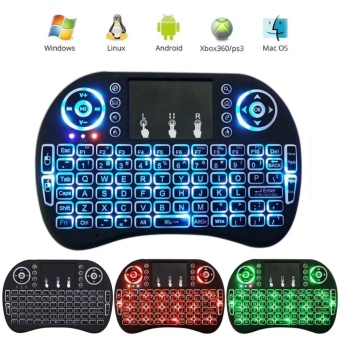 Rii I8 Mini 2.4Ghz Wireless Touchpad Keyboard With Mouse For Pc,Pad, Xbox 360, Ps3, Google Android Tv Box, Htpc, Iptv (Black) -intl