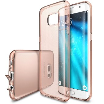 Ringke Fusion Premium Shock Absorption Bumper Hard Case for SamsungGalaxy S7 Edge (Rose Gold)
