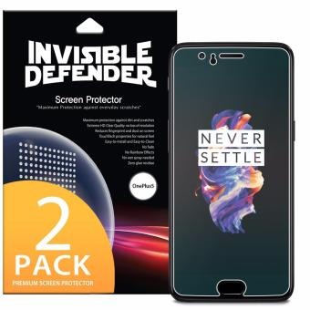 Ringke Invisible Defender [Full Coverage] Edge to Edge Curved SideCoverage Guaranteed Screen Protector for OnePlus 5