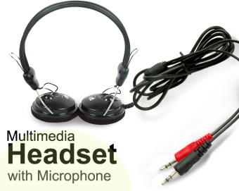 Rise 105dB Multimedia Stereo Headset/Headphones with Microphone Price Philippines