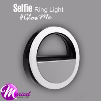 RK-12 Rechargeable LED Enhancing Selfie Ring Light for MobilePhones and Tablets (Black)