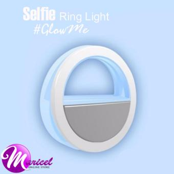 RK-12 Rechargeable LED Enhancing Selfie Ring Light for MobilePhones and Tablets (Blue)