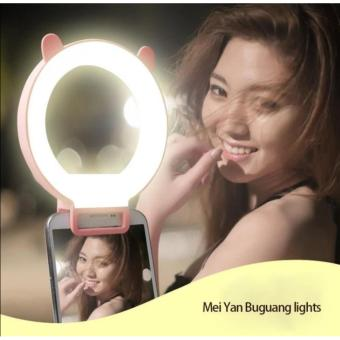 RK13 3 Level LED Ring Selfie Light Night Enhancing Photography (Pink) - 3