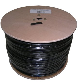 Rogers RG-6+2PC 305m Coaxial Cable with Wooden Spool (Black) Price Philippines