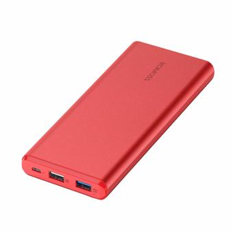 ROMOSS GT Pro 10000mAh Power Bank Quick Charge 3.0 LED Display Li-polymer Battery Dual USB Output (Red) - 2