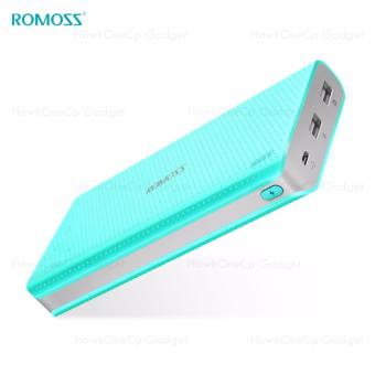 Romoss Sense 15 15000mAh Dual USB Output 2.1A 1A Quick Charge LED Indicator Power Bank (Blue)