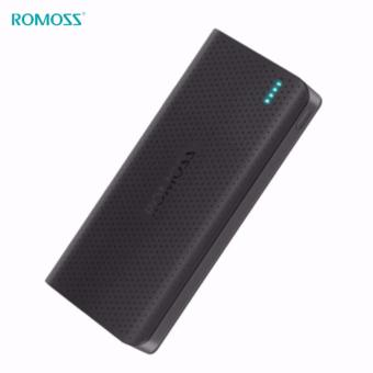 Romoss Sense 15 15000mAh Dual USB Output 2.1A 1A Quick Charge LED Indicator Power Bank (Charcoal Black)