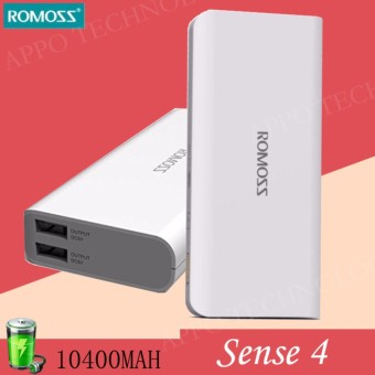 Romoss Sense 4 10400mAh Battery Indicator (White)