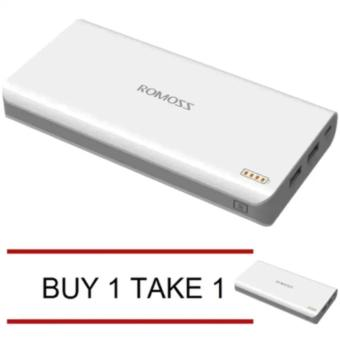 Romoss Sense 4 10400mAh Power Bank (White) Buy 1 Take 1