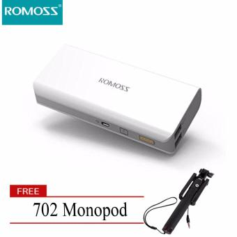 Romoss Sense 4 10400mAh Powerbank (White) with FREE 702 SelfieMonopod