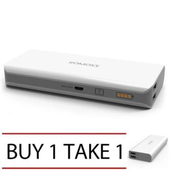 Romoss Sense 4 10400mAh Powerbank (White/Grey) Buy 1 Take 1