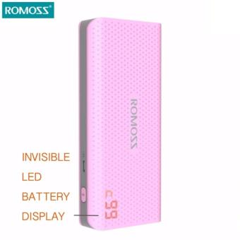 Romoss Sense 4 LED Original 10400mah Power Bank (PINK)