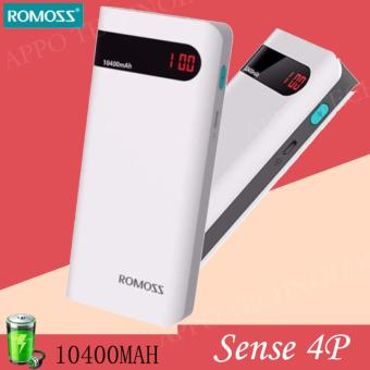 Romoss Sense 4P 10400mAH Dual Output LED Display Power Bank (White)