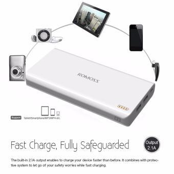 Romoss Sense 6 20000mAh Dual Output Durable Power Bank (White) withF55 Mini USB Beauty Fan and LED Light for Selfie (Blue) - 3