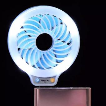 Romoss Sense 6 20000mAh Dual Output Durable Power Bank (White) withF55 Mini USB Beauty Fan and LED Light for Selfie (Blue) - 5