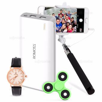 ROMOSS Sense 6 PH80 20000mAh Powerbank w/ FREE Tictime 3386L Watch, Fidget Spinner, and Selfie Stick
