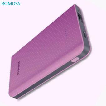 ROMOSS Sense Mini 5000mAh Portable Charger, Ultra Slim and Lightweight Pocket Friendly Power Bank (Pink)