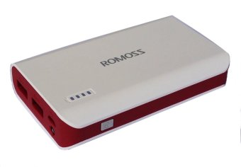 Romoss Solo 3 Rose Red Limited Edition 6000mAh Power Bank with LEDTorch (White/Red)