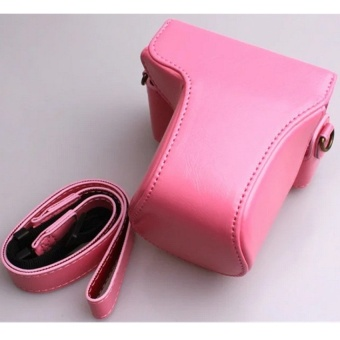 Rose Red PU Leather Camera Case Bag for Canon EOS M10 - intl