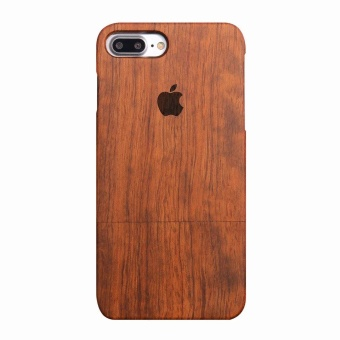 Rosewood True Wood Phone Case for Apple iPhone 7 Plus - Apple Logo - intl