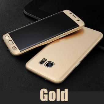 Roybens 360 Degree Full Body Protect Hard PC Case Front + Back Cover with Screen Protector For Samsung Galaxy S7 Edge Gold - intl