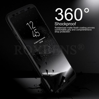 ROYBENS 360 Degree Full Body Protect Hard Slim Case Cover withScreen Protector for Samsung Galaxy S8
