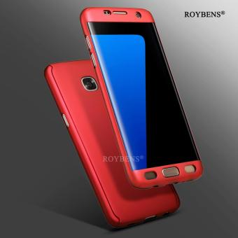 Roybens 360? Full Body Front + Back Hard Slim Case Cover withScreen Protector for Samsung Galaxy S7 Edge Red - intl