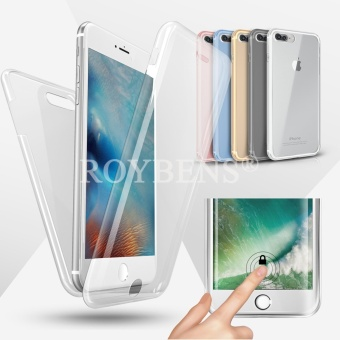 Roybens 360? Full Protect Soft Silicone Case Cover For Apple iPhone 7 Plus Clear - intl