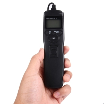 RST-7002 LCD Screen Time Lapse Intervalometer Shutter ReleaseDigital Timer Remote Controller With C8 Cable For CANON1D/1DS/50D/40D/30D/20D/10D/5D/5D/7D Camera (Black) - intl - 5