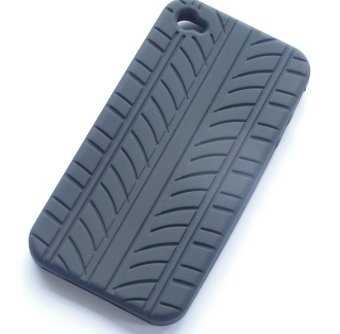Rubber Tyre silicone soft skin cover case for iPhone 4S 4G 4