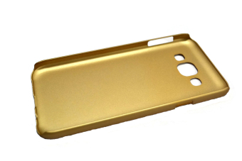 Rubberized Hard Case for Samsung Galaxy E5 (Gold) - picture 2