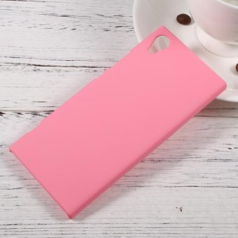 Rubberized Hard Mobile Phone Case for Sony Xperia XA1 - Pink - intl